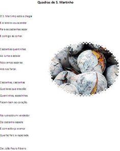 s. martinho atividades - Pesquisa Google Education, School, Portugal, Autumn, Children Rhymes, Roasted Chestnuts, Sint Maarten, Magic Words, Crafts