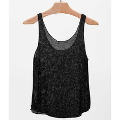 OBEY Silver Lining Tank Top - Black Large (6.460 HUF) ❤ liked on Polyvore featuring tops, black and obey clothing