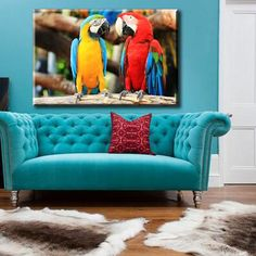 Large Size Box Framed Canvas Print Artwork Stretched Gallery Wrapped Wall Art Like Painting Hanging Original Decorative Modern Home & Living Decor World Parrot Bird Plumage Wings Bright Turquoise Red Cockatoo Corella Framed Canvas Prints, Artwork Prints, Canvas Frame, Parrot Bird, Cockatoo, Box Frames, Home And Living, Wings, Bright
