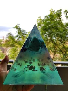 Large Turquoise Orgone Generator...healing tranquil energy with powerful protection from EMFs in one beautiful piece! www.pocketorgonite.com Healing, Turquoise, Pocket, Beautiful, Therapy, Recovery, Teal, Bags