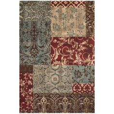 Grand Bazaar Power Loomed Polypropylene Atwood Rug in Multi 8' X 11' - 8' x 11' (Multi), Size 8' x 11'