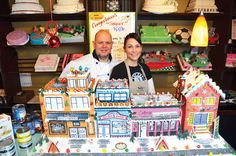 Creating a masterpiece: Fabio and Gina Cornale will be raffling this street of sweet, gingerbread dreams at Bella Cakes and Pastries in Sapperton. Proceeds will go to the food bank. Food Bank, Westminster, Pastries, Charity, Gingerbread, Dreams, Cakes, Street, Cake Makers