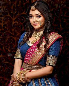 Photography Poses Women, Beach Photography, South Indian Bridal Jewellery, Bengali Bridal Makeup, Mehndi Design Pictures, Bengali Bride, Beautiful Girl Indian, Beautiful Women