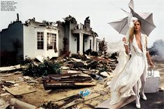 Yes, let's not take ourselves so seriously.   Photographer David Lachapelle  Fashion Carrousel
