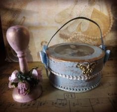 Miniature 12th scale shabby style Hat Corset by PhoebesIrishMinis
