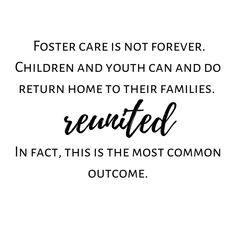 Foster care is not forever. Children and youth can and do return home to their families. In fact this is the most common outcome. Check out more tons more adoption & foster care quotes from all sides of the triad on the website. Link in BIO. #ADOPTION #adoptioniscomplex #adoptions #adoptionjourney #hopefuladoptiveparent #adoptions #adoptionstories #adoptionstory #adoptionishard #adoptionstories #adoptionstory #foster #fostercare #fostering #fostertoadopt #fostermom #fosterlife #fosterparent…