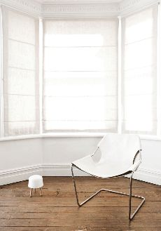 Paulistano chair - White leather cover from www.bodieandfou.com