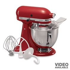 Kitchen Aid Mixer - great product, frees you up to do other things in the kitchen while it works it's magic.  Heavy duty for thick batters and doughs.