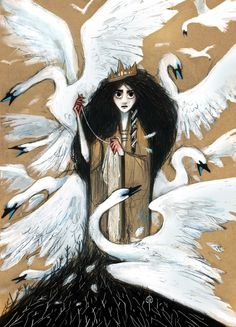 """Inspired by """"The Wild Swans"""" of Hans Christian Andersen"""