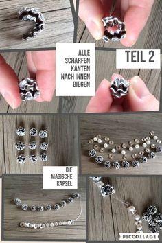Bildanleitung Teil 2 Kapselkugel-Armband - Another! Diy Jewelry, Jewelery, Handmade Jewelry, Jewelry Making, Diy Nespresso, Coffee Pods, Bijoux Diy, Schmuck Design, Beads And Wire