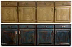 Antiquing Furniture Tutorials Black Kitchen Cabinetsdiy