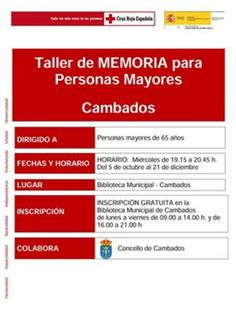 CORES DE CAMBADOS: OBRADOIRO DE MEMORIA PARA MAIORES