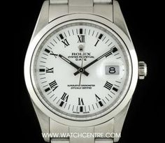 Rolex Stainless Steel O/P White Roman Dial Air-King Precision Rolex Watches, Watches For Men, Used Rolex, Rolex Date, Popular Watches, Vintage Rolex, Audemars Piguet, Breitling, Fashion Watches