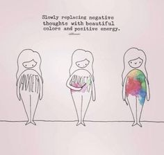 Positivity Slowly replacing negative thoughts with beautiful colors and positive energy. The Words, Positive Thoughts, Positive Vibes, Body Positive Quotes, Negative Thoughts Quotes, Love Your Body Quotes, Body Image Quotes, Positive Body Image, Loving Your Body
