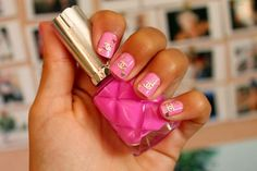 pink chanel nails <3