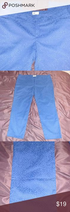 """Blue Print Pixie Pants Cotton blend with stretch. Like new condition.  Waist: 38"""" Inseam: 27"""" Old Navy Pants"""