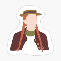 Anne Of Avonlea, Gilbert And Anne, Friends Poster, Preppy Stickers, Anne With An E, Chibi, Anne Shirley, Feminist Art, School Notes