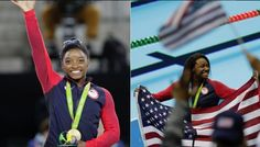 'Simone' could win gold on baby name popularity lists Kevin Kaduk,Fourth-Place Medal 3 hours ago Comments  Sign in to like  Reblog on Tumblr  Share  Tweet  Email Simone Biles and Simone Manuel Simone Biles and Simone Manuel Thursday at the Olympics was a good day for women named Simone.  First Simone Biles took home gold in the individual all-around, prompting questions of whether she's the greatest gymnast in history. Then Simone Manuel made barrier-breaking history in the 100m freestyle,