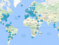 Minden reptéri Wi-Fi jelszó egy térképen!