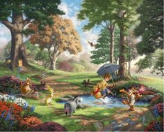 Thomas Kinkade Disney art | Thomas Kinkade – Winnie the Pooh