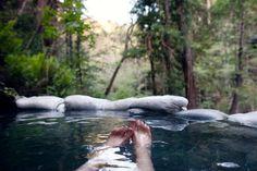early morning soak at sykes hot springs / big sur, ca / may 2012