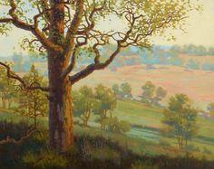 """""""Oak Savanna"""" original fine art by Les Dorscheid"""