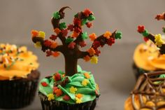 Check out this yummy Autumn Cupcake with Colorful Leaves and learn the Flavors of Fall Weddings http://www.bridaltweet.com/profiles/blogs/flavors-of-fall