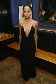 Zoë Kravitz Looks Rather Badass At The 'Vincent-N-Roxxy' After-party