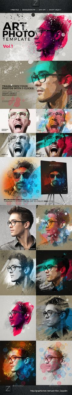Buy Art Photo Template by Zeppelin_Graphics on GraphicRiver. Art Photo Template We are happy to present you our first finished Artistic Photo Template! Crea Design, Graphisches Design, Tool Design, Layout Design, Street Art Graffiti, Photoshop Illustrator, Adobe Photoshop, Photoshop Express, Sketch Photoshop