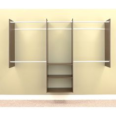 Have to have it. Easy Track Closet 4 - 8 ft. Deluxe Closet Starter Kit - $212.7 @hayneedle