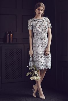 REISS Orchid Lace Dress, REISS Gaia Suede and Vinyl Shoes for 2016 Lookbook Photoshoot