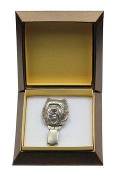 ArtDog Dog Keyring Collie Smooth Haired in Casket Limited Edition Key Holder