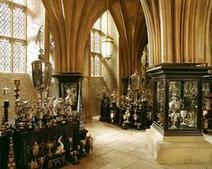 Trophy Room, Goblet of Fire Hogwarts - Harry Potter HP Harry Potter Locations, Décoration Harry Potter, Harry Potter Universal, James Potter, Lily Evans, Hermione Granger, Ginny Weasley, Harry Potter Aesthetic, Slytherin Aesthetic