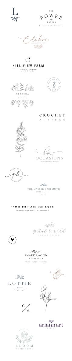 Logos and branding for creative businesses