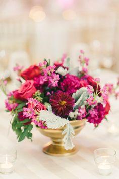 Photography : Elizabeth Fogarty   Reception Venue : Hyatt Regency Bethesda   Floral Design : B Floral Event Design Read More on SMP: http://www.stylemepretty.com/2016/01/12/blogger-bride-politics-of-prettys-vintage-whimsical-greek-wedding-2/