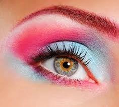 80s fluro fashion - Google Search Bright Eye Makeup, Dramatic Eye Makeup, Unique Makeup, Beautiful Eye Makeup, Colorful Eye Makeup, Dramatic Eyes, Pink Makeup, Blue Eye Makeup, Beautiful Eyes