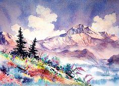 Denali Summer. watercolor by Teresa Ascone