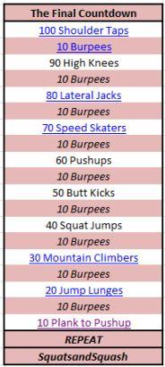 burpee countdown workout