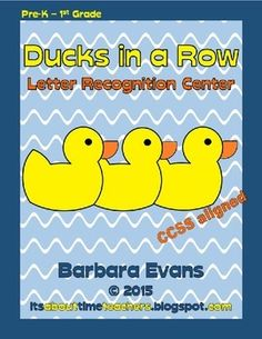 This literacy center is just ducky for letter recognition and phonological awareness.  Get your ducks in a row!  $