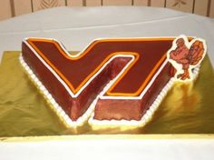 Virginia Tech Grooms Cake By Deana on CakeCentral.com