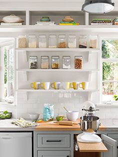 Kitchen Storage Ideas A Food Prep Station To The Right Of This S Sink Includes Open Dry