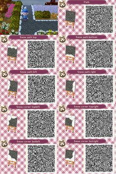 Cute Qr Codes Mossy Spaced Out Brick Path Rocks/ Stepping Stones Set with Stone Path Qr Brick Path, Stone Path, Acnl Pfade, Acnl Qr Code Sol, Acnl Paths, Motif Acnl, Code Wallpaper, Ac New Leaf, Happy Home Designer