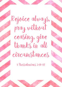 Rejoice Printable Pray Christian Wall Art Give Thanks Scripture Art Bible Verse Pink Bible Quote Water Color Print Teacher Gift Thankful #ad