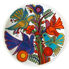 Villeroy & Boch, Acapulco pattern plate, late 1960s