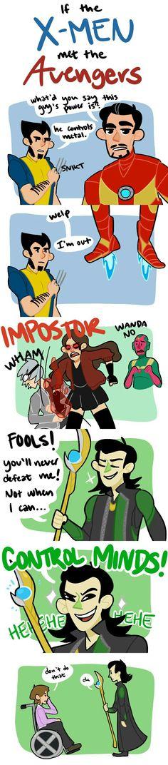 X-Men meet the Avengers