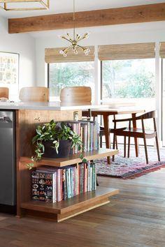 Home Interior Salas .Home Interior Salas Cookbook Storage, Cookbook Shelf, Cookbook Display, Home Remodeling, Home Renovation, Cuisines Design, Mid Century House, Cheap Home Decor, Home Kitchens