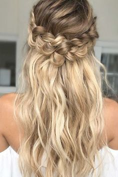 braided wedding hair loose-curls-with twisted braid beyond