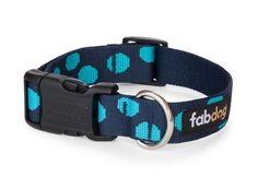 Blue Polka Dot Collars & Leads