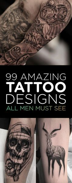 99 Amazing Tattoo Designs All Men Must See | TattooBlend #NeatTattoosIWouldHave