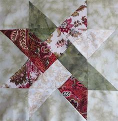 Weave Star Quilt Block Pattern için resim sonucu